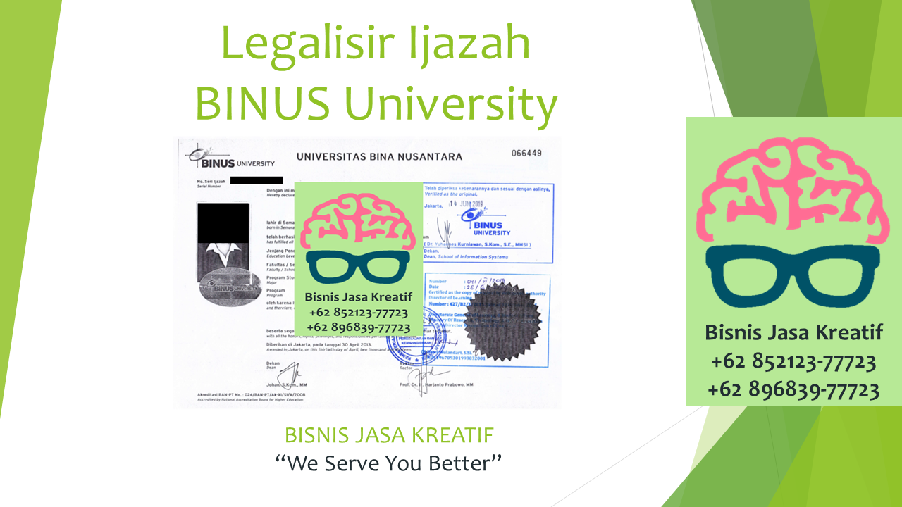 Legalisir Ijazah BINUS University